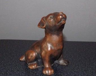 Dog Ornament Vintage Dog Statue Stone Ceramic