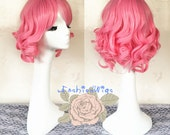 2016 New Arrival Short Pink Color Beautiful Lolita Daily Use Wig, Costume Cosplay Wigs for Party UF443