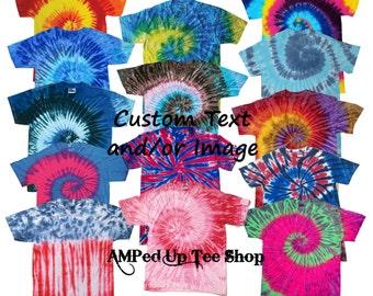 Custom Adult Tie Dye Shirt/ Custom T-shirt / Customized Tee / Design Your Own Shirt / Custom Tees / Custom Raglan Shirt