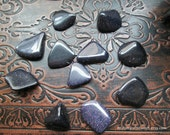 Extra Small Blue Goldstone Crystals, Empath Stones, Tumbled Stones, Healing Crystals and Stones, Crystal Healing, Polished Blue Goldstone