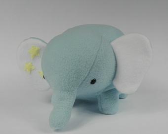 Blue Elephant, Stuffed Animal Elephant, Elephant Plushie, Plush Elephant, Elephant Stuffed Toy, Elephant Plush Toy