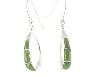 Canadian Nephrite Jade Earrings, 0135