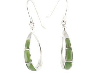 Canadian Nephrite Jade Earrings, 0135