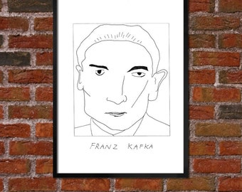 Badly Drawn Franz Kafka - Literary Poster - *** BUY 4, GET A 5th FREE***