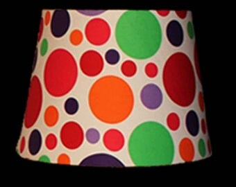 New design lampshade - co-ordinates with art print and cushion - or just enjoy it on it's own - bright bold beautiful!