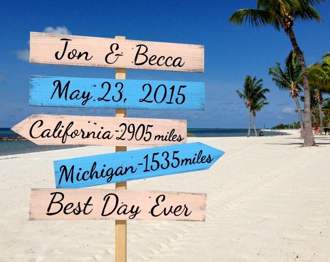 Wedding Beach Sign, Best Day Ever, Destination Wedding Gift, Rustic Wedding Decor, Beach Wedding Decor