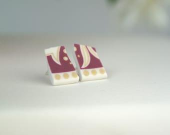 Bella porcelain earrings