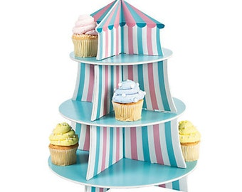Carnival Cupcake holderl /Circus Cupcake Holder / Treat holder/ Snack display