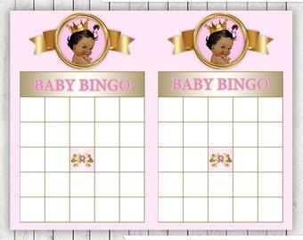 Ethnic Princess Bingo Baby Shower Game Ethnic Princess Baby Bingo Baby Shower Game