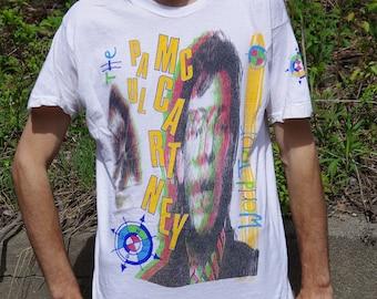 1989 1990 paul mccartney mac is back world tour t-shirt
