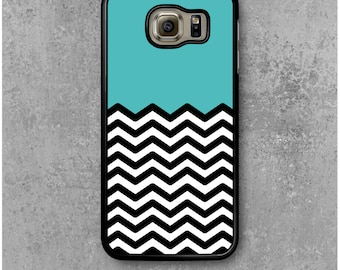 Samsung Galaxy S6 Case Chevrons Blue
