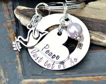 Forgiveness Keychain Forgiveness inspirational necklace inspirational jewelry, Motivational quote motivational necklace