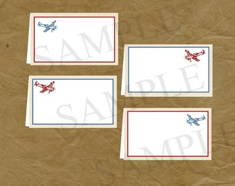 AIRPLANE Birthday Party FOOD TENT Signs Vintage Plane