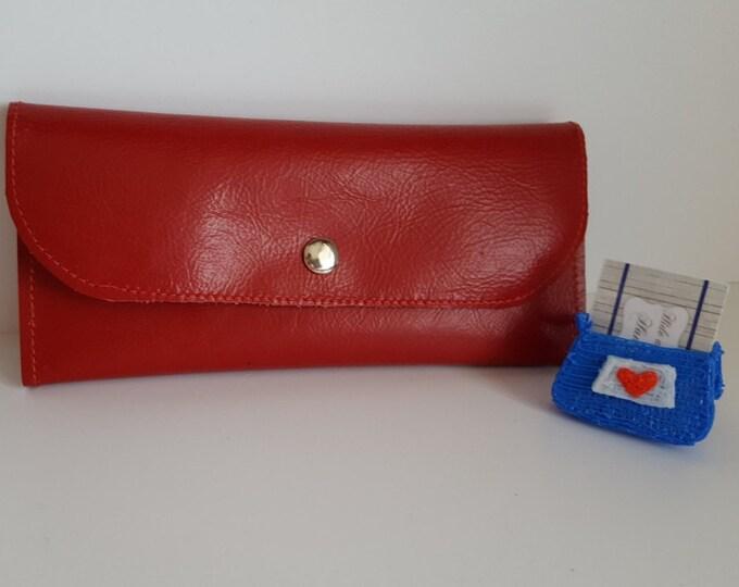 Womens leather wallet Handmade womens wallet Minimalist ladies purse Slim wallet womens Birthday gift Wedding gift Long wallet