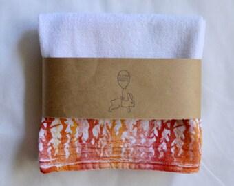 Hand Printed Fire Tea Towel