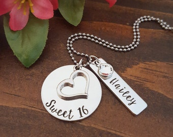 Sweet 16 Birthday Gift | Sweet 16 Necklace | Personalized Necklace For Sweet 16th Birthday | Sweet 16 Gift For Daughter