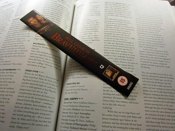 Braveheart - Mel Gibson Sophie Marceau, Angus Macfadyen - Recycled VHS bookmark spine