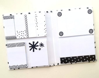 Sticky Notes booklet / book / set, black & white