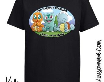 Pokemon GO Starter T-Shirt Charmander Bulbasaur Squirtle