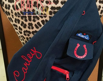 Custom Monogrammed Kavu Rope Bag! Lots of colors and fonts available!
