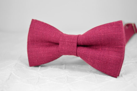 raspberry bow tie magenta bow tie pink purple wedding linen