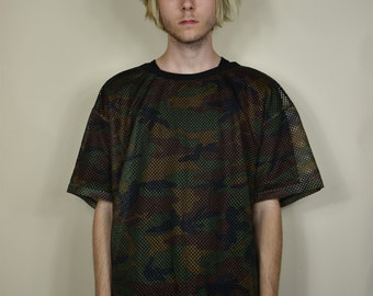 Vintage Camouflage Mesh T-Shirt