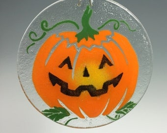 Halloween Suncatcher Jack O Lantern Window Hanging Pumpkin Suncatcher