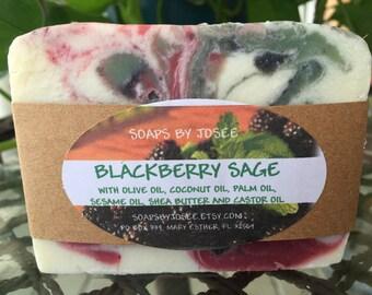 BLACKBERRY SAGE Old Fashioned Lye Soap