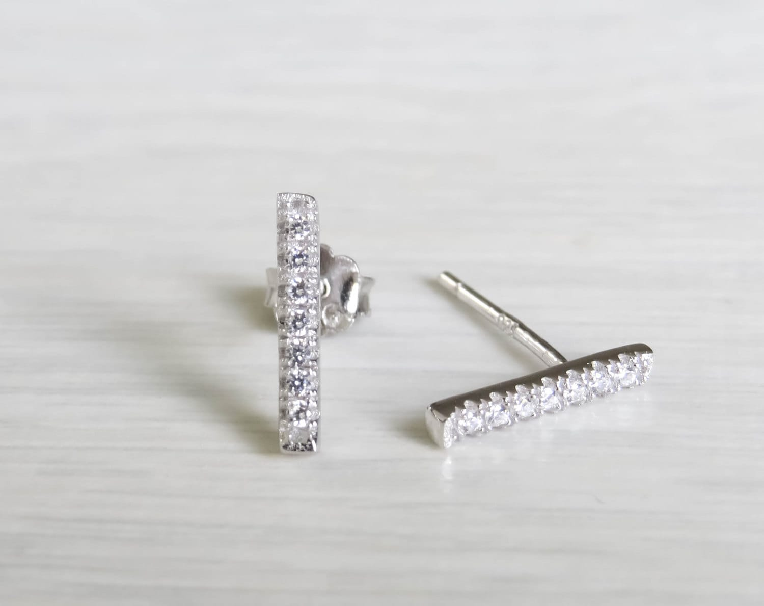 silver bar earrings tiny silver bar studs sterling silver