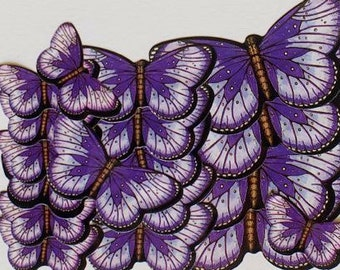 Purple Butterfly Stickers
