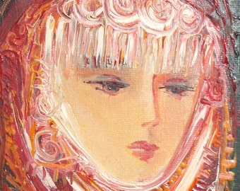 1993 oil painting woman portrait