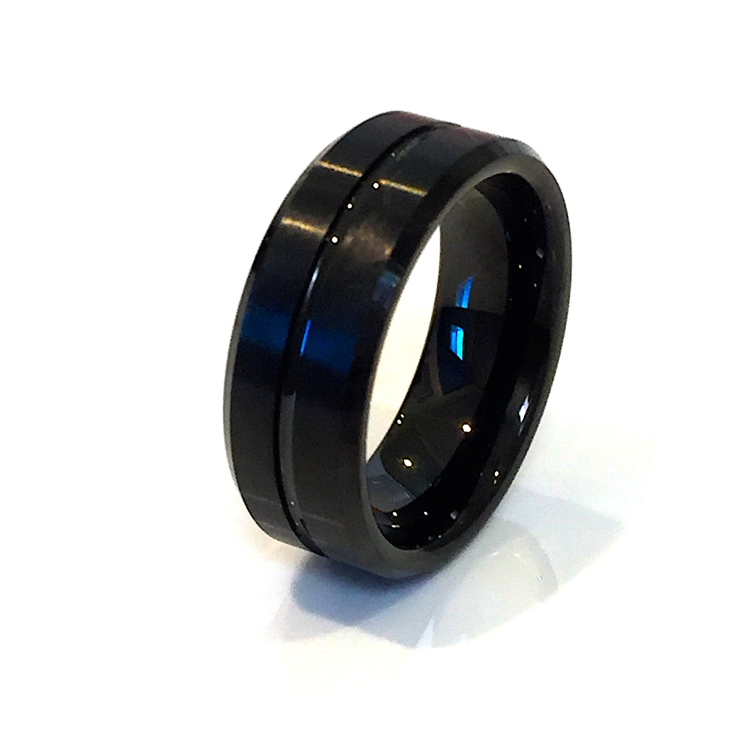 Tungsten band wedding band men39s tungsten ring by for Tungsten wedding ring reviews