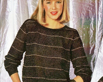 womens crochet sweater CROCHET PATTERN womens crochet jumper 87-92cm 4 ply womens crochet pattern pdf instant download