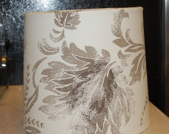 Custom Cream, Taupe, Brown Lamp Shade
