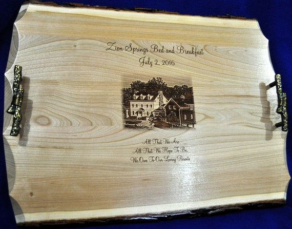 Personalized Wedding Gifts For Parents: Wedding Gift To Parents Engraved Photo On Wood Engraved