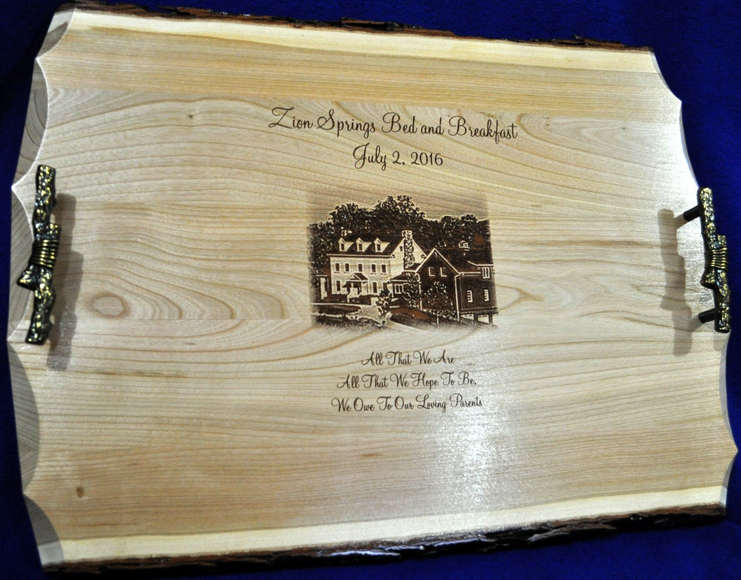 Wedding Gift To Parents Engraved Photo On Wood Engraved