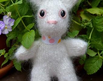 Fuzzy white bunny