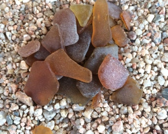 Sea Glass, Beach Glass, Bulk Sea Glass, Amber Sea Glass, Brown Sea Glass, Decor Glass