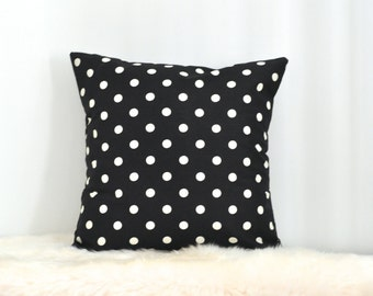 Black And White Polka Dot Outdoor Cushion Cover