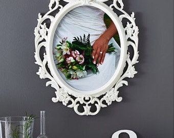 new large oval frame wedding frame nursery decor vintage shabby inspired your choice of colour
