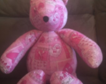 Pink RibbonBreat Cancer Awareness Teddy Bear. Free Shipping!