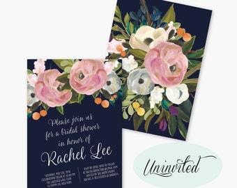 Bridal Shower Invitation, Bridal Shower Invite, Wedding Shower Printable