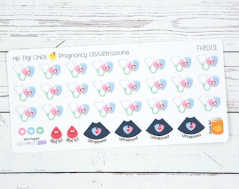 Prenatal Appointment Pregnancy Planner Stickers - OB Ultrasound {FHB301}