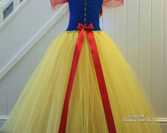 Disney Princess Snow White  Inspired Handmade Tutu Dress - Birthday, Party, Photo Prop, Pageant, Party,  Fancy Dress