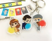 The man from U.N.C.L.E. - Acrylic Charms (pre-order)