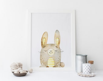 Rabbit home decor etsy for Rabbit decorations home