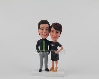 Anniversary Gift for girlfriend, First Wedding Anniversary Gift for him, Personalized wedding bobbleheads Wedding or Anniversary Gift