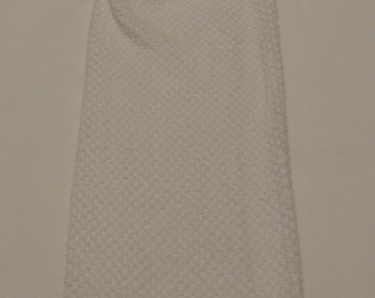 All White Hanging Kitchen Towel with Angel Button