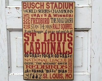 St. Louis Cardinals Print on Wood Sign, Cardinals Baseball Sign, St Louis Cardinals Art, Boys Room Decor, Baseball Art Guy, Gift For Dad