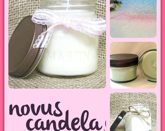Mason Jar Candle - Soy Candle - Soy Scented Candle - Pink Candle - Pink Sands Candle - Homemade Candle - Housewarming Gift - 2 4 8 oz